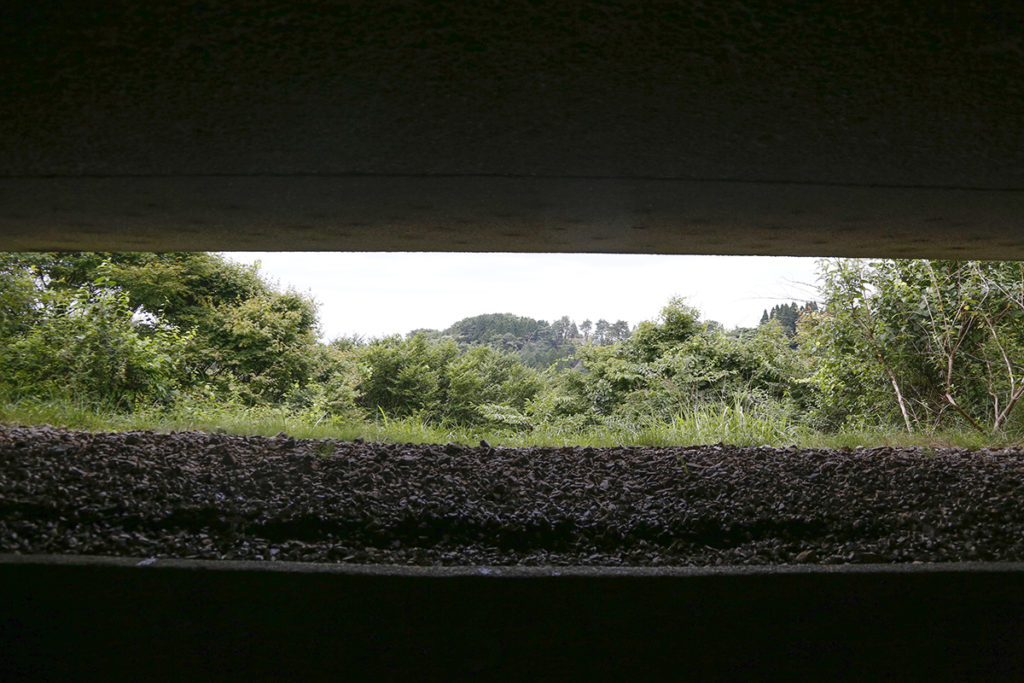 風穴からは絵画のような六甲の自然がみられます