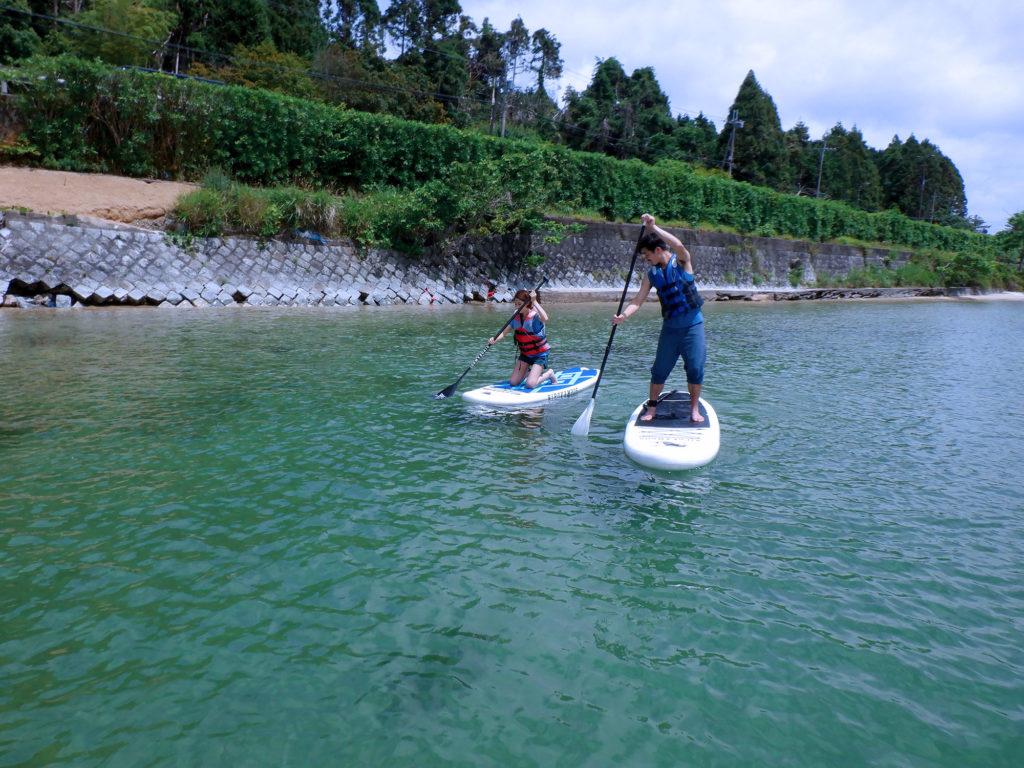 琵琶湖しら髭SUP立ち上がる練習