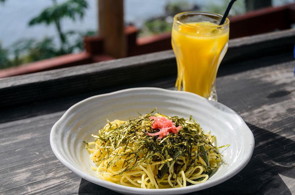 シャーレ水ヶ浜の山菜スパゲティー
