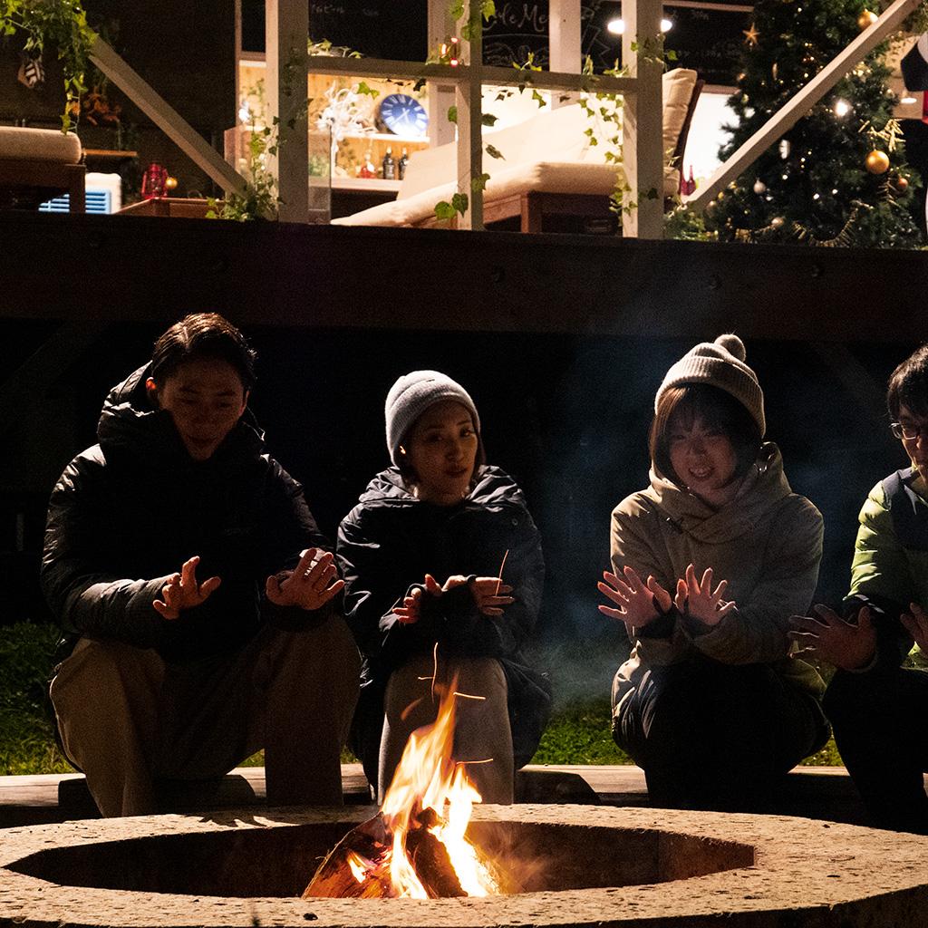 ファームグランピング京都天橋焚き火