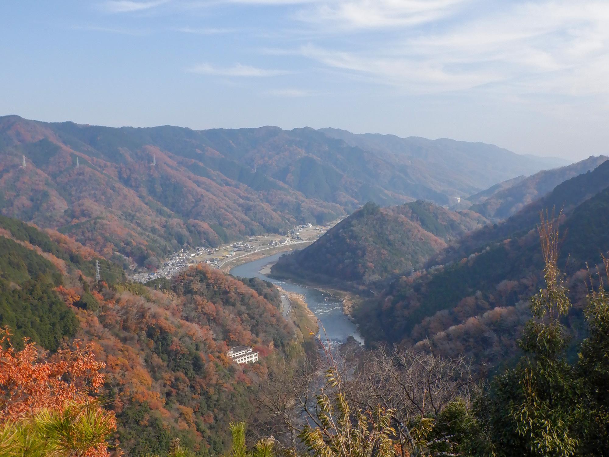 笠置寺 平等石からの景色
