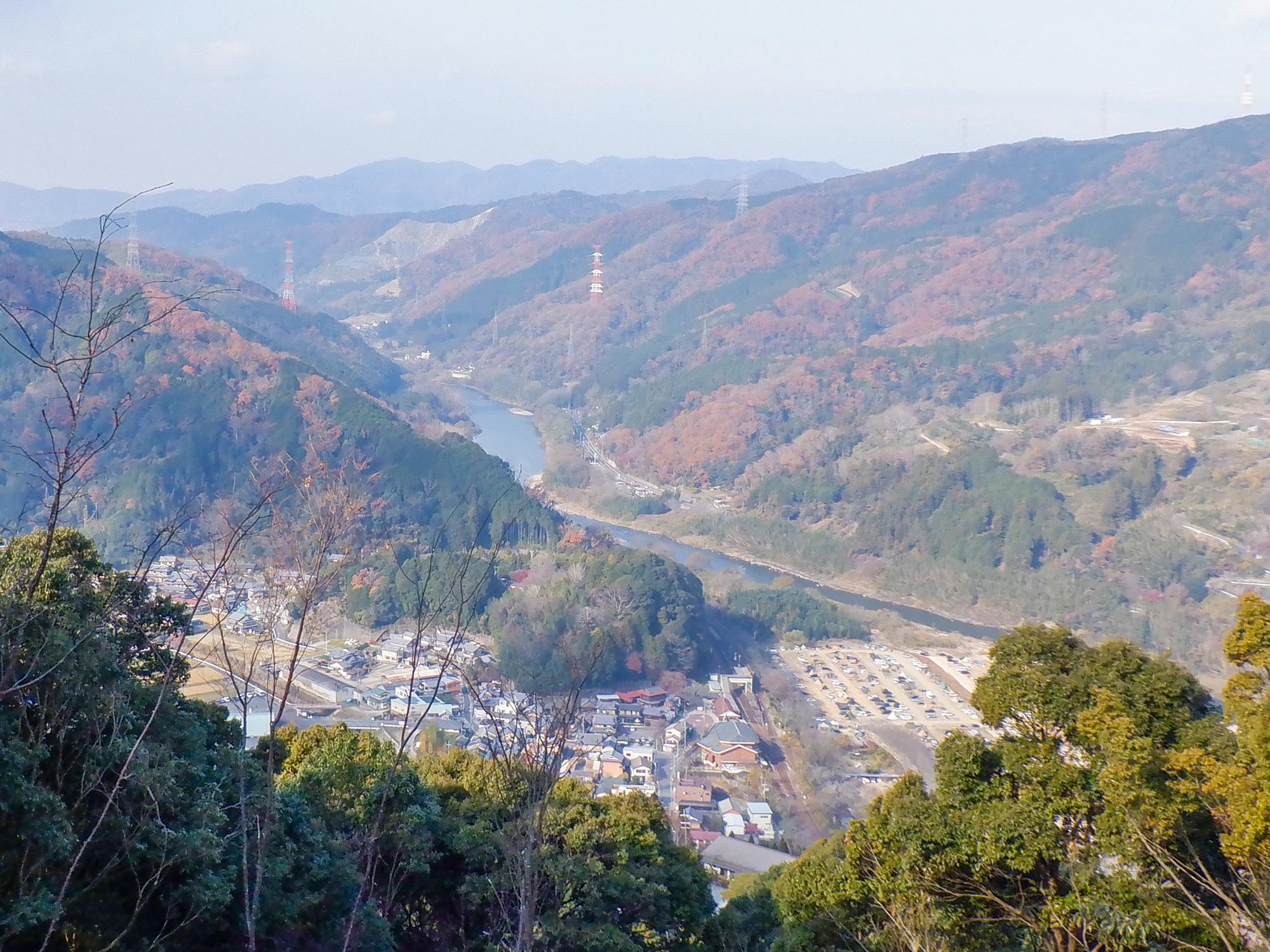 笠置寺 貝吹岩からの景色
