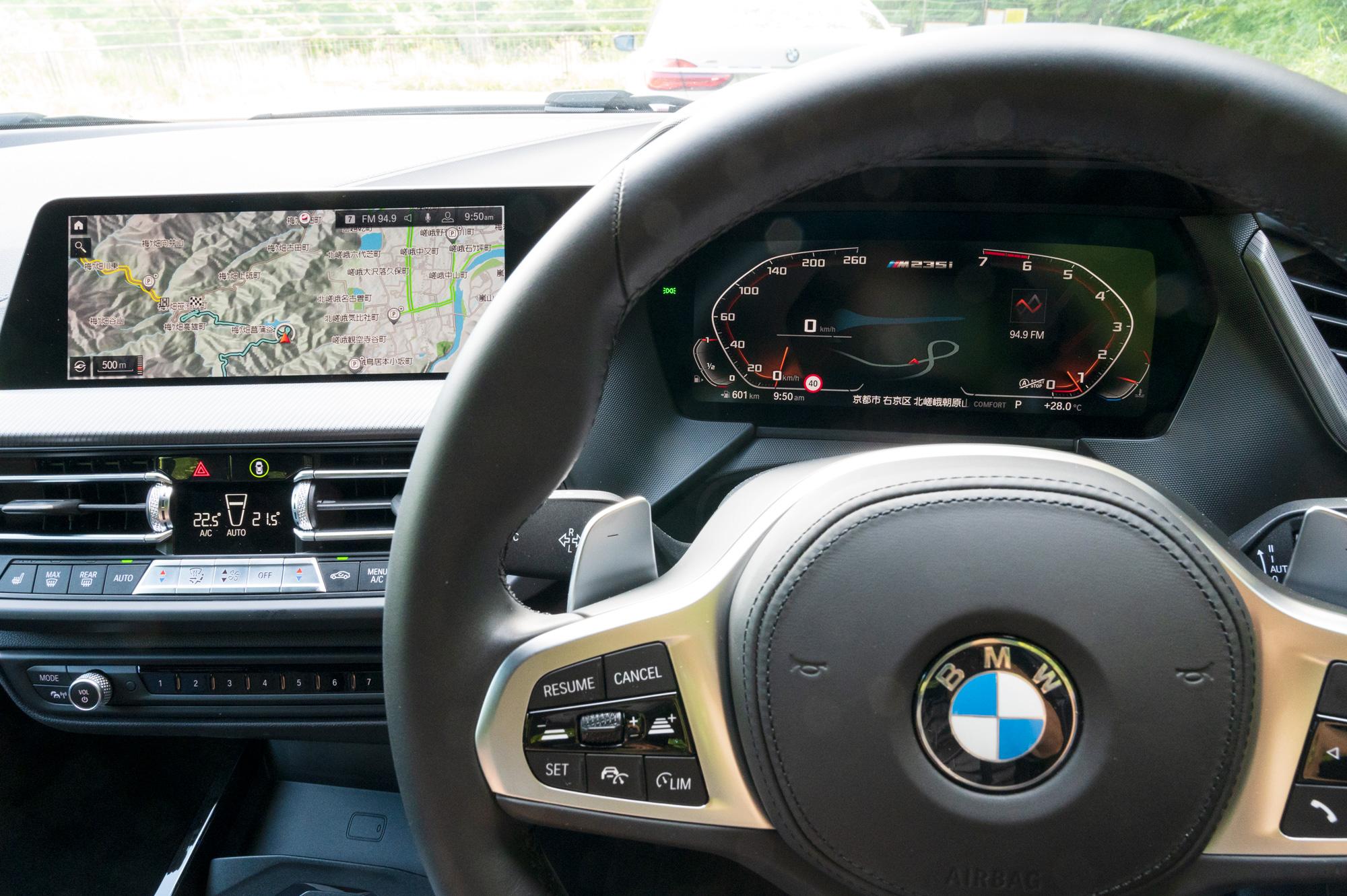 BMW M235i xDrive グランクーペ インパネ
