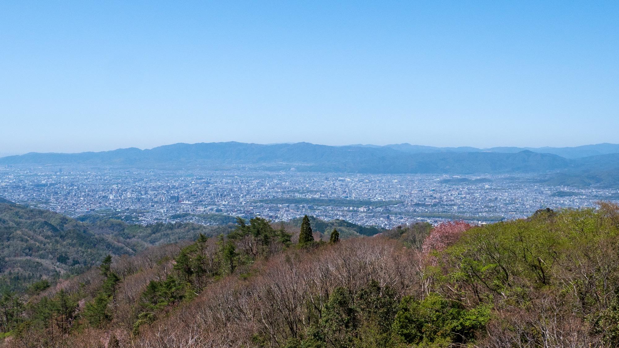 比叡山ドライブウェイ 登仙台から京都側