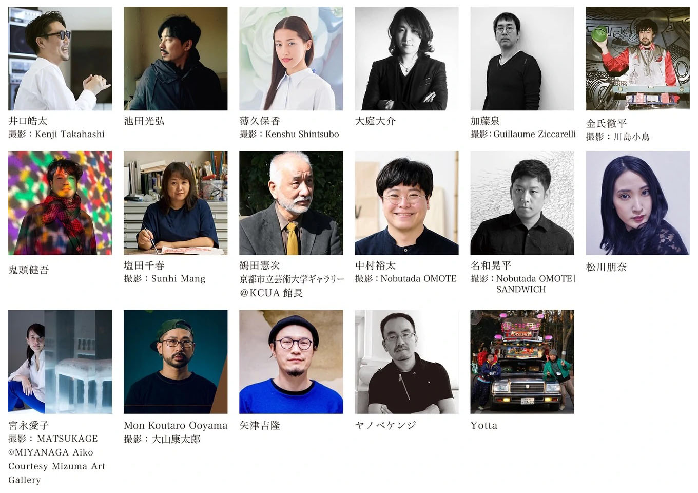 ARTISTS' FAIR KYOTO 2021 Advisory board